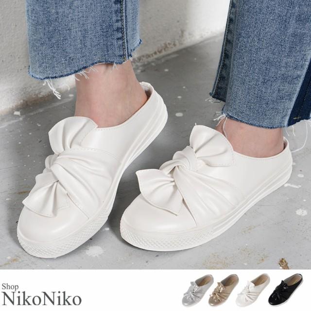 春新作 リボンスリッポン【即納】シューズ 靴 ス...