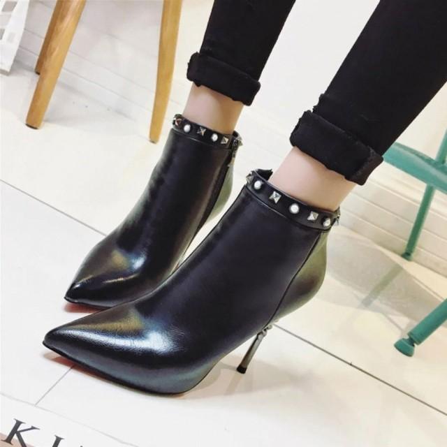【SALE/セール】ブーツ ピラミッドスタッズ レッ...