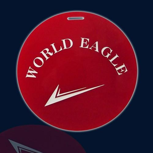 ワールドイーグル ネームプレート 赤丸 Z-21