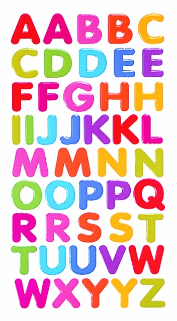 PBK:Bigアルファベットシール【ツヤツヤ】