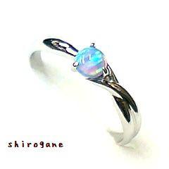 日本製 オーダーメイド Shirogane 指輪◆オパール...