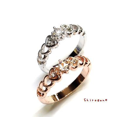 《日本製・オーダーメイド》指輪◆ハート♪連なる...