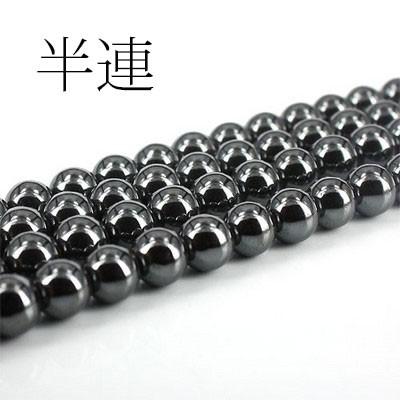 天然石 半連 ヘマタイト(磁気なし) 約8mm〔VE5-36...