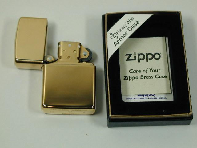 ジッポーZippoアーマー ミラープレーンARMOR真鍮#...