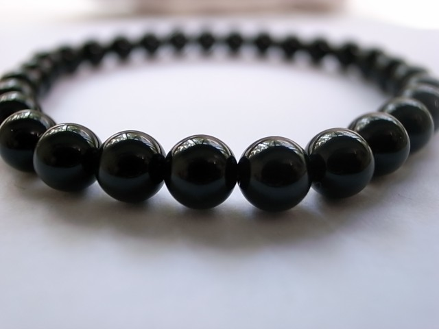 【送料無料】ブラックオニキスブレス6mm
