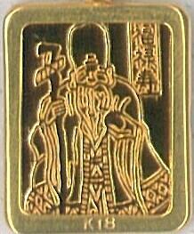 七福神純銀ゴールドペンダント(福禄寿)