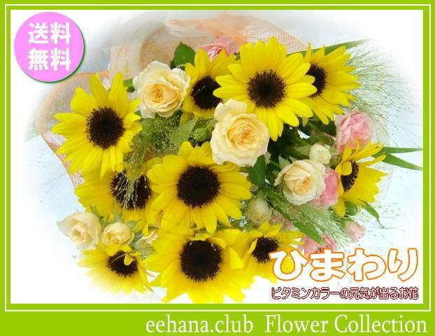ひまわり花束★8月の誕生花★【送料無料】ネット...