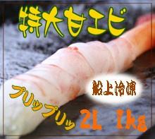 【送料無料】BIG!甘エビ 2Lサイズ 1kg (50〜60尾...