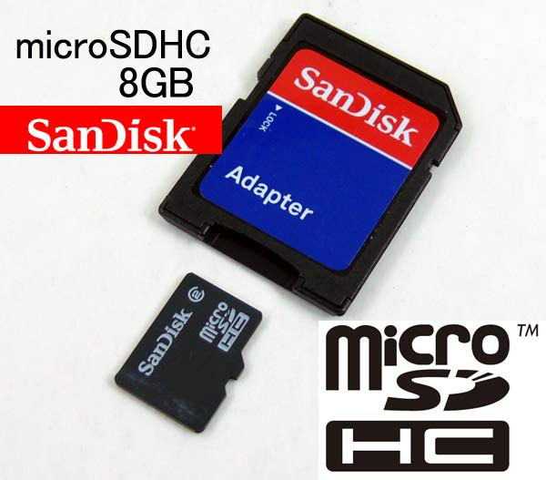 【送料無料】 Sandisk micro SDカード8GB/バルク...