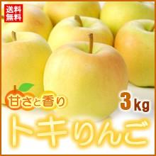 トキりんご(3kg)青森産 糖度15度以上選果 リンゴ ...