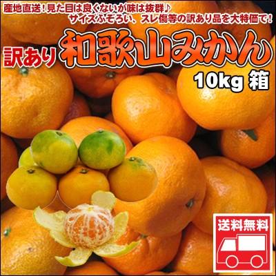 訳ありみかん和歌山産(優品)10kg詰 送料無料 ※...