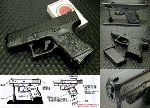 グロック型G26ターボガスライター(ブラック) ブロ...