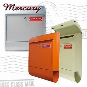 Mercury ポスト Mail Box ( 郵便ポスト )オレンジ/シルバー/アイボリー