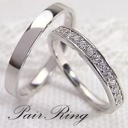 結婚指輪 エタニティリング ダイヤモンド 平打ち ...