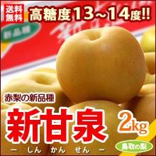 新甘泉梨(2kg)鳥取産 新品種の赤梨 しんかんせん ...