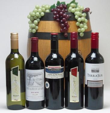セレクション 高品質ワイン5本福袋(赤4本、白1本...