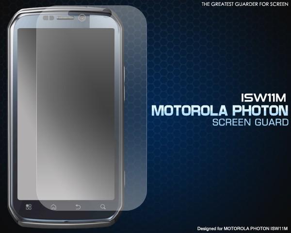 【MOTOROLA PHOTON ISW11M用】液晶保護シール* au...
