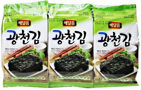 グァンチョン お弁当のり(8切X8枚X3袋)★韓国食...