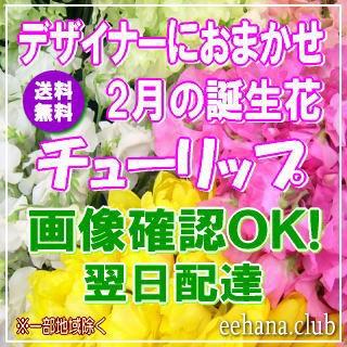 2月の誕生花チューリップ★デザイナーにおまかせ...