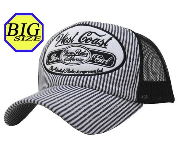 【大きいサイズ帽子 65cm】ヒッコリービッグワッ...