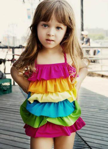 e56e047d6a8 即納 女児水着 子供 水着 かわいい 可愛い女の子 みずぎ ラブリー プリンセス水着 (身長 83