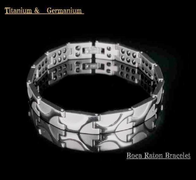 Bocaraton◆76石◆純チタン&高級ゲルマニウムブ...