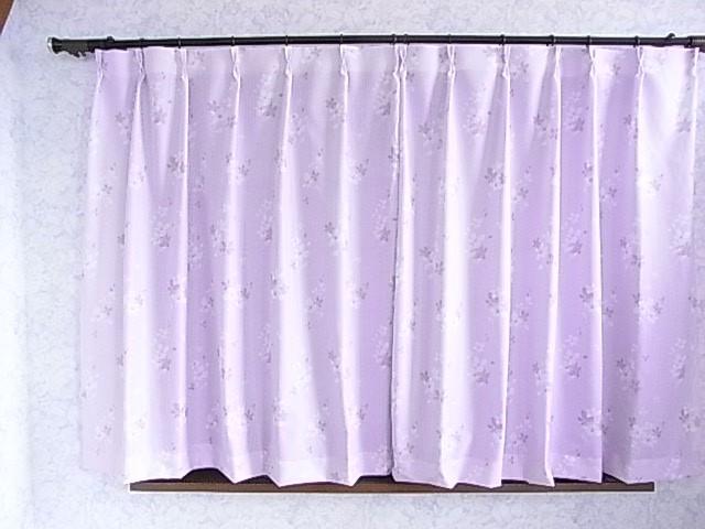 太陽熱の侵入を抑えるプリントレ-スカ-テン巾100c...