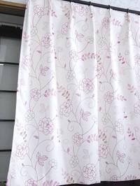 遮光カ−テン(ラインフラワ−)巾100cmX丈200...