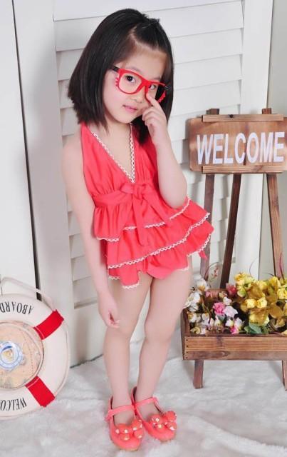 da9de96215a 女児水着 子供 水着 かわいい 可愛い女の子 みずぎ ラブリー プリンセス水着(身長90-