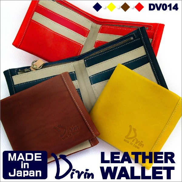 f9e554fab7eb カラー. Divin デュヴァン 財布 二つ折りレザーウォレット グローブ用レザー使用 【DV-014】