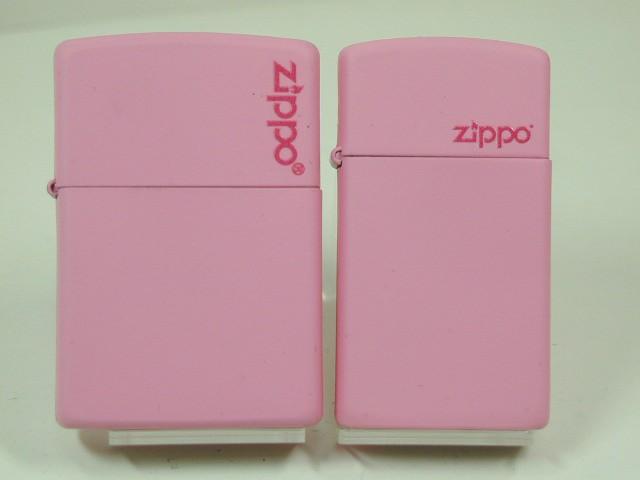 ジッポーZippo ピンクマット・ペア(桃 Pink)ジ...