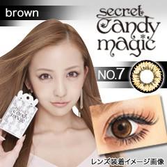 カラコン シークレット キャンマジ No.7 ブラウン...