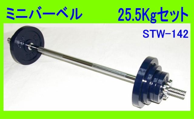 ミニバーベル25.5kgセット 筋トレ入門用1mバー...