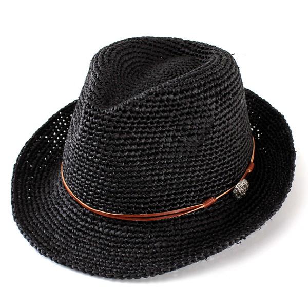帽子 メンズ 帽子 ハット ストローハット ラフィ...