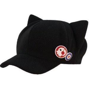 DD036 ネコ耳 帽子 バッジ2個付き  (惣流)...