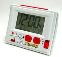 ◆リズム時計【スヌーピー R126 電波デジタル ...