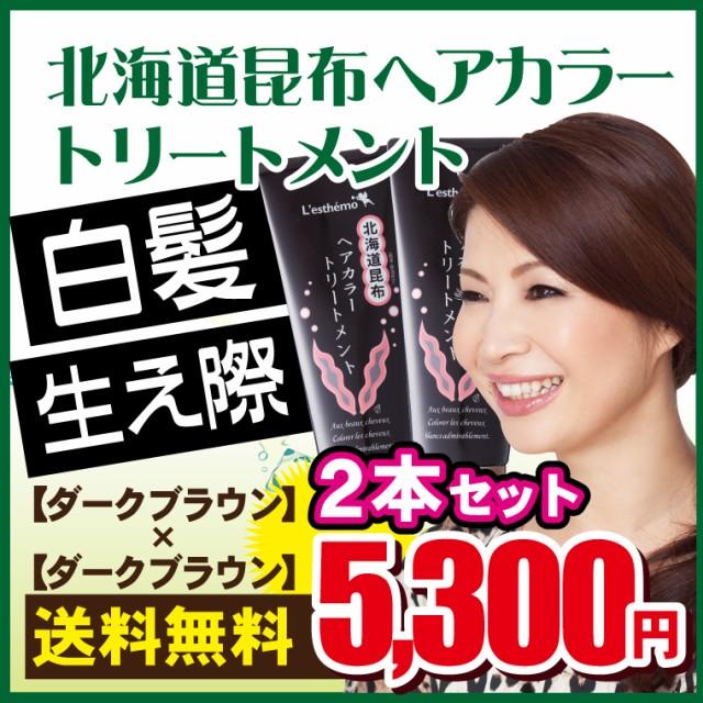 北海道昆布ヘアカラートリートメント 2本セット【...