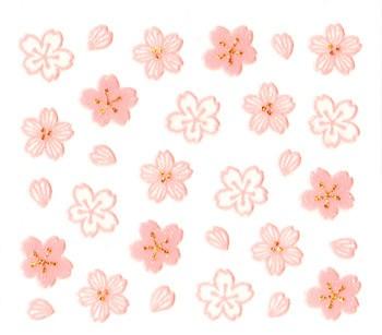 ビビデコ★切り絵桜 3種類のサクラ!さくらの季...
