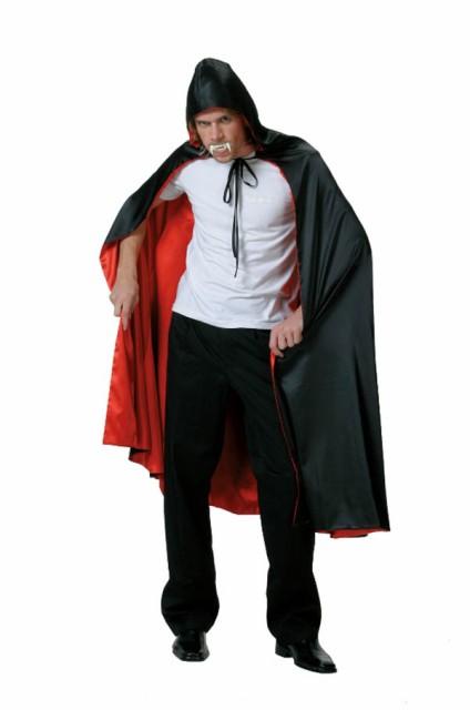 仮装 ハロウィン ゴーストケープ 黒 赤 マント ...