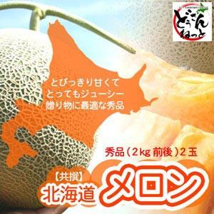 赤肉メロン 北海道 秀品 特大 2kg×2玉 送料無料 ...
