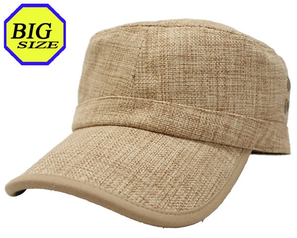 【大きいサイズ帽子 65cm】フェイクリネンパイピ...
