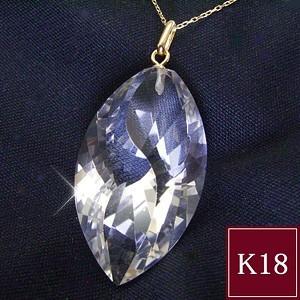 選べる3種類 K18 天然水晶ネックレス 3営業日前後...