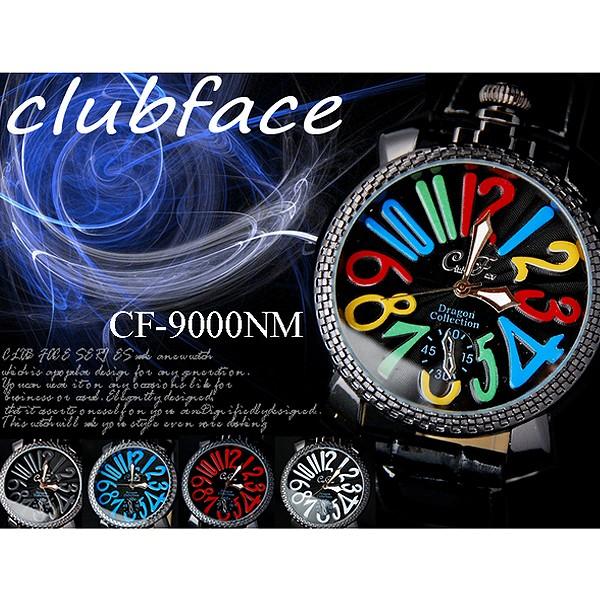 club face トップリューズ式 メンズ腕時計 全5色...