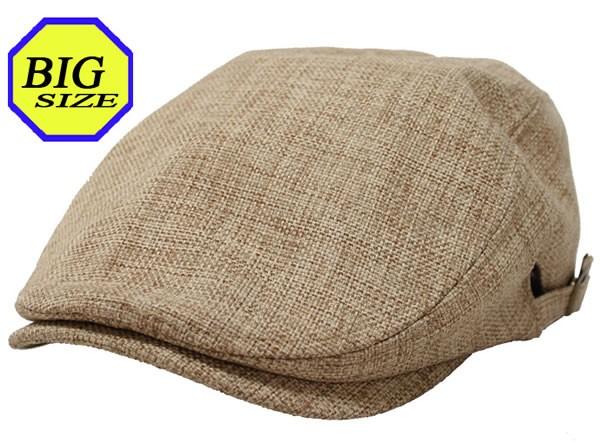 【大きいサイズ帽子 65cm】フェイクリネンサイド...