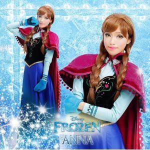 ディズニー  アナと雪の女王 アナ Anna 風 衣装...