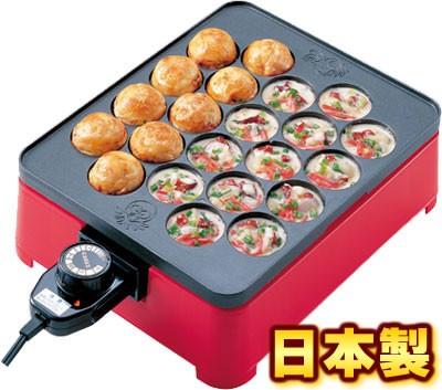 日本製 プレート着脱式角型 電気たこ焼き器(22穴)...
