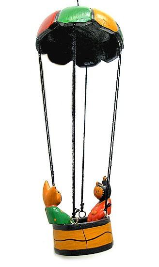 気球に乗ったバリネコ君 アジアン雑貨 バリ雑貨 ...