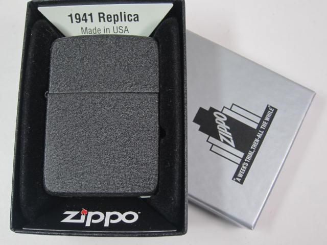 ジッポーZippo 1941BC ブラッククラックルWW2レプ...