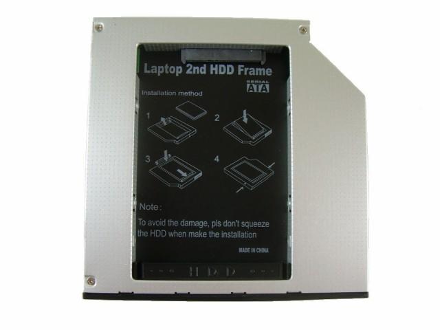 ノートパソコン光学ドライブベイ用HDD・SSDマウン...