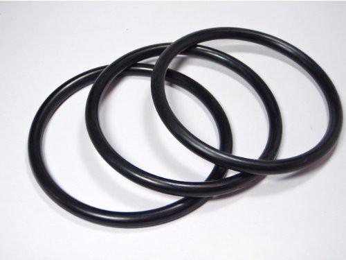 ラバーブレスレット・黒(5ミリ幅)3本セット・...